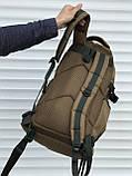 Оливковий тактичний рюкзак на 40 літрів, фото 4
