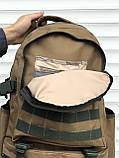 Оливковий тактичний рюкзак на 40 літрів, фото 5