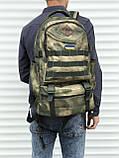 Якісний тактичний рюкзак (40 л) камуфляж, фото 2