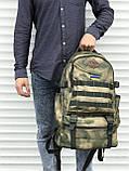 Якісний тактичний рюкзак (40 л) камуфляж, фото 4