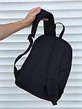 Качественный черный рюкзак (17 л) черный, фото 3
