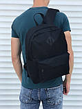 Качественный черный рюкзак (17 л) черный, фото 4
