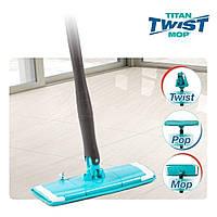 Швабра лентяйка с автоматическим отжимом для быстрой уборки Titan Twist Mop Чудо швабра 360 Синяя титан моп