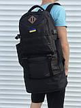 Черный мужской рюкзак с раздвижным дном, 40л + 5л, фото 2