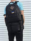 Чорний чоловічий рюкзак з розсувним дном, 40л + 5л, фото 3