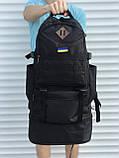 Чорний чоловічий рюкзак з розсувним дном, 40л + 5л, фото 5