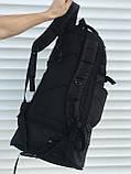 Чорний чоловічий рюкзак з розсувним дном, 40л + 5л, фото 6