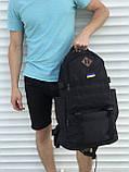Чорний чоловічий рюкзак з розсувним дном, 40л + 5л, фото 7