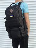 Чорний чоловічий рюкзак з розсувним дном, 40л + 5л, фото 8
