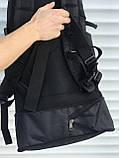 Чорний чоловічий рюкзак з розсувним дном, 40л + 5л, фото 9