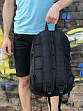 Спортивний рюкзак для школи та спорту Off-white, чорний, фото 4