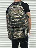 Рюкзак камуфляжний з розсувним дном, 40л + 5л, фото 3