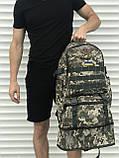 Рюкзак камуфляжный с раздвижным дном, 40л + 5л, фото 4