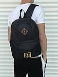 Качественный черный рюкзак с гербом (17 л) черный, фото 2