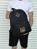 Якісний чорний рюкзак з гербом (17 л) чорний, фото 3