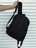 Якісний чорний рюкзак з гербом (17 л) чорний, фото 5