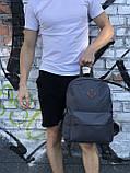 Качественный мужской серый рюкзак (17 л), фото 4