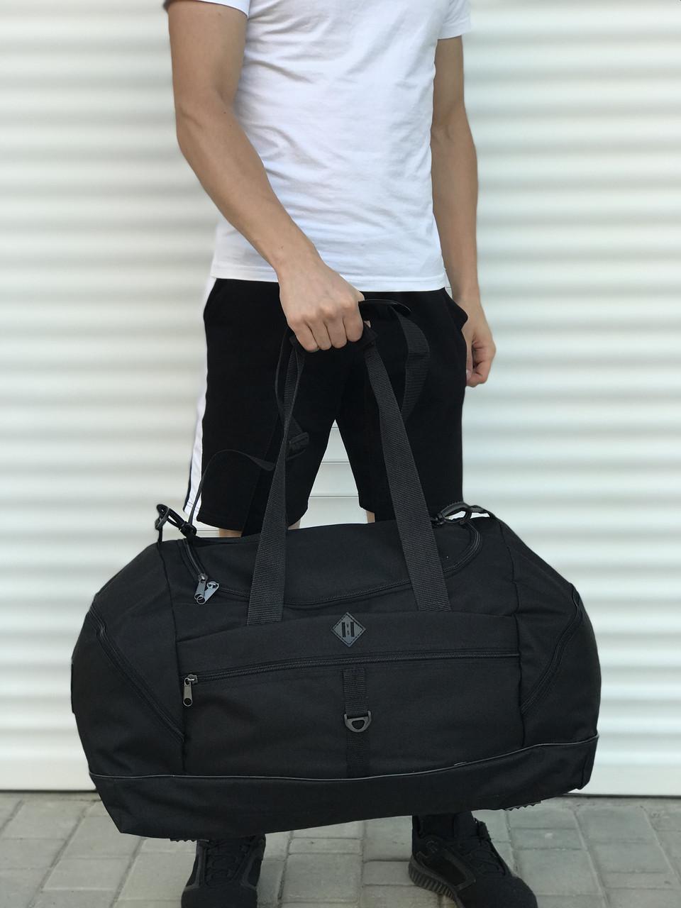 Велика дорожня сумка, чорна (60 л.)