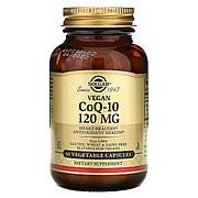 Вегетарианский Коэнзим Q10, 120 мг, Vegetarian CoQ-10, Solgar, 60 вегетарианских капсул