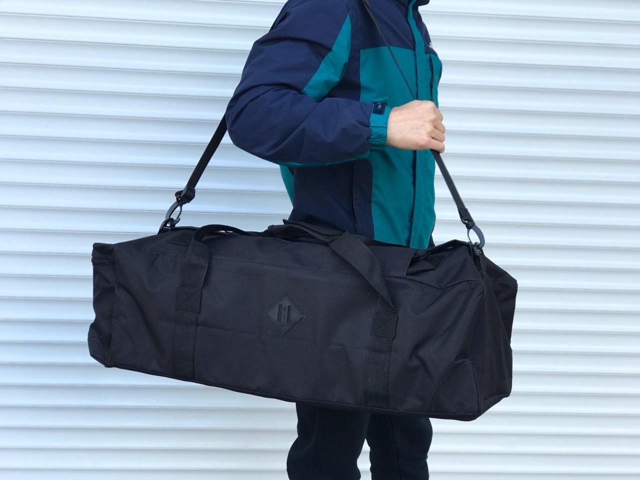Большая дорожная сумка-рюкзак, черная (60 л.)