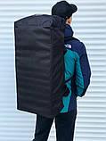 Велика дорожня сумка-рюкзак, чорна (60 л.), фото 4