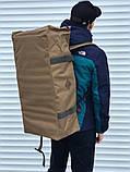 Большая дорожная сумка-рюкзак, оливка (60 л.), фото 3