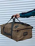 Большая дорожная сумка-рюкзак, оливка (60 л.), фото 4