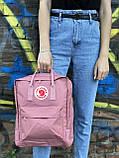 Рожевий рюкзак Fjallraven Kanken, фото 3