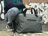 Стильна сіра дорожня сумка, фото 4