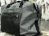 Стильна сіра дорожня сумка, фото 5