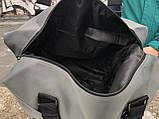 Стильна сіра дорожня сумка, фото 6