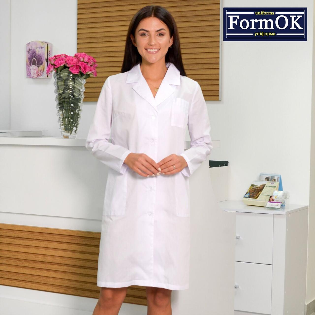 Женский медицинский халат Инна белый 56