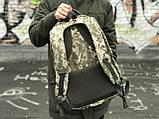 Стильний камуфляжний рюкзак з відділенням для ноутбука, фото 3