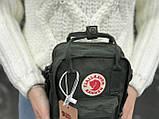 Женская сумка Kanken c плечевым ремнем, хаки, фото 3