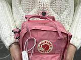 Жіноча сумка Kanken c плечовим ременем, пудрова, фото 3