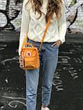 Жіноча сумка-рюкзак Kanken c плечовим ременем, руда, фото 3