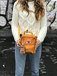 Женская сумка-рюкзак Kanken c плечевым ремнем, рыжая, фото 4