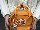 Женская сумка-рюкзак Kanken c плечевым ремнем, рыжая, фото 5