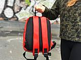 Жіночий спортивний червоний рюкзак Puma, фото 3