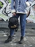 Женский рюкзак Puma черный с золотым лого, фото 3