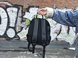 Женский рюкзак Puma черный с золотым лого, фото 5