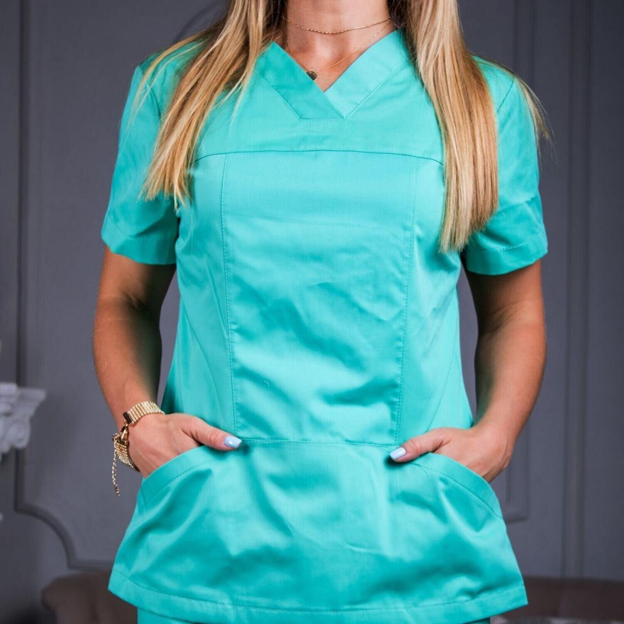 Женская медицинская блуза Avicenna салатовая 46