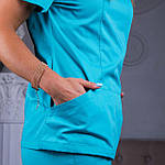 Женские медицинские штаны Avicenna мятные 48, фото 5