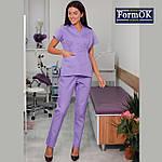 Женская медицинская блуза Эдельвика лиловая 48, фото 2