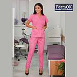 Женская медицинская блуза Эдельвика розовая 54, фото 2