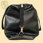 Жіноча дорожня сумка штучна шкіра чорна, фото 3
