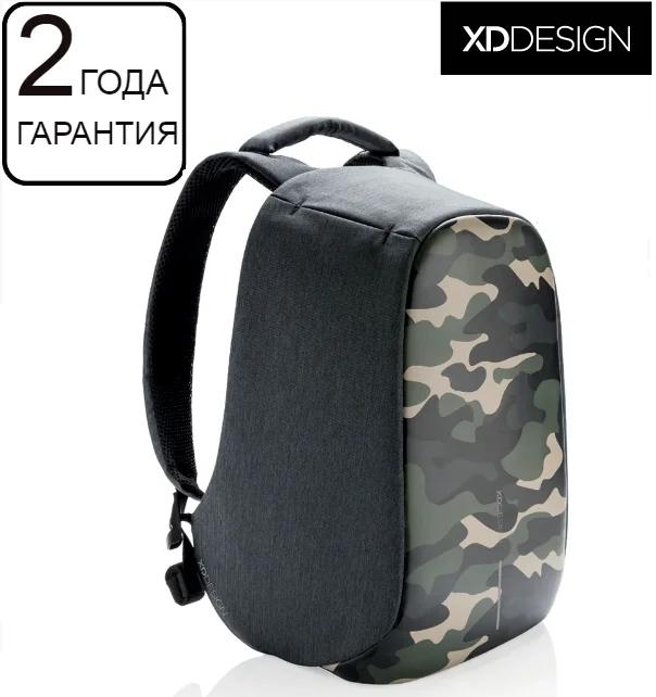 "Антикрадій рюкзак для ноутбука XD Design Bobby Compact Camouflage Green 14"" (P705.657)"