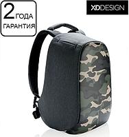 "Антивор рюкзак для ноутбука XD Design Bobby Compact Camouflage Green 14"" (P705.657), фото 1"