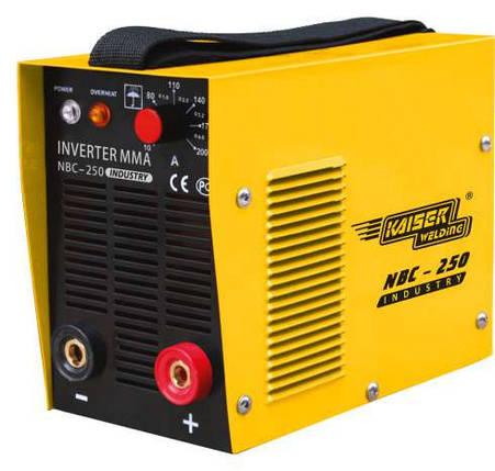 Дуговая сварка (ММА), Профессиональный Сварочный инвертор Kaiser NBC-250 Industry (Оборудован дросселем), фото 2