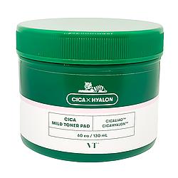 Заспокійливі тонізуючі педи з центеллою Vt Cosmetics Cica Mild Toner Pad